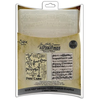 Sizzix Postcard and Sheet Music Embossing Folders (Pack of 2)