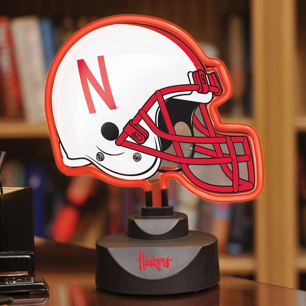 Nebraska Cornhuskers Neon Helmet Lamp