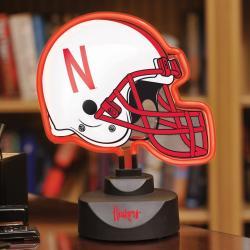 Nebraska Cornhuskers Neon Helmet Lamp - Thumbnail 1