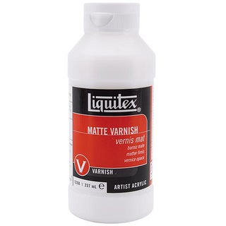 Liquitex Liquid Acrylic Clear-dry Matte Varnish (Eight-ounce Bottle)