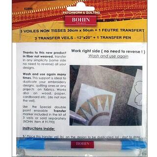 Bohin Transfer Veil And Pen Set