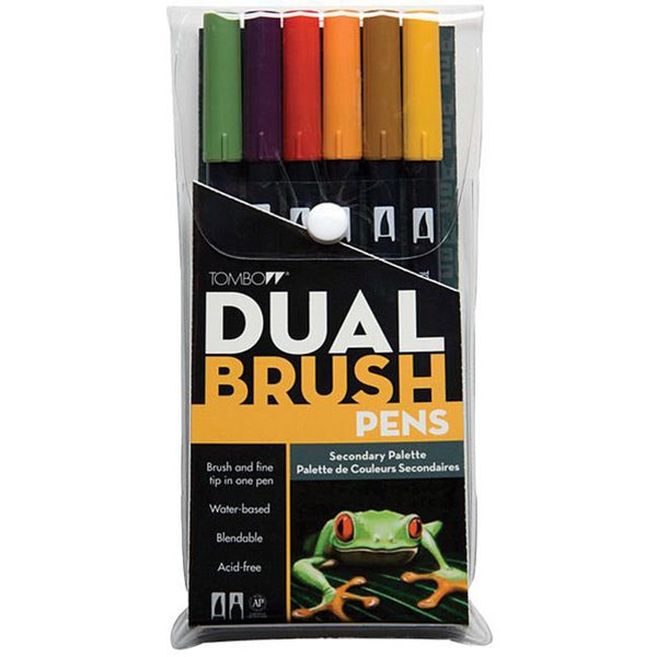 Tombow Secondary Dual Brush Pen Set (Pack of 6)