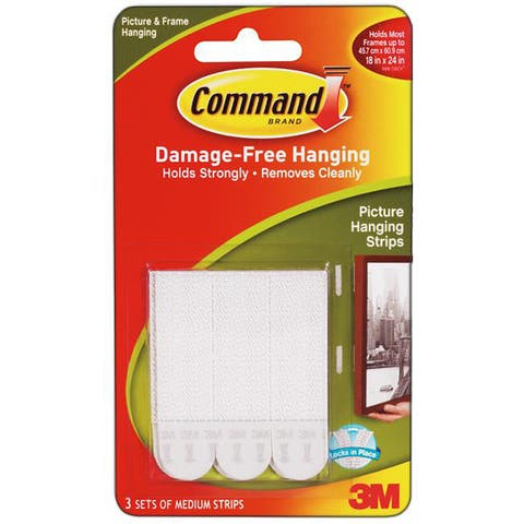 Command 3M Medium Picture Hanging Strips (Pack of 6)