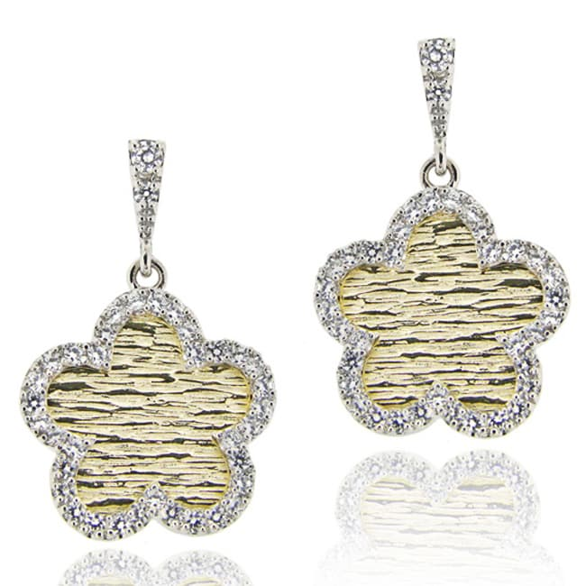Icz Stonez Sterling Silver Cubic Zirconia Dangle Earrings - Thumbnail 0
