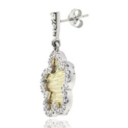 Icz Stonez Sterling Silver Cubic Zirconia Dangle Earrings - Thumbnail 1