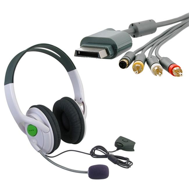 INSTEN Composite and S-video Cable/ Headset for Microsoft Xbox 360