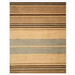 Hand-tufted Wool Beige Contemporary Stripe Alden Rug (5' x 8')