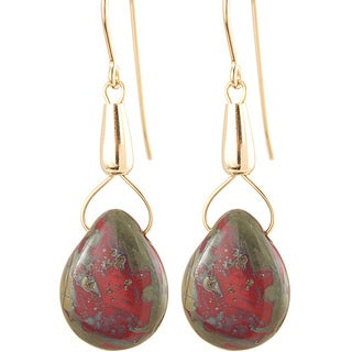Fourteen-karat Gold Fill 'Recklessly Red' Glass Bead Earrings