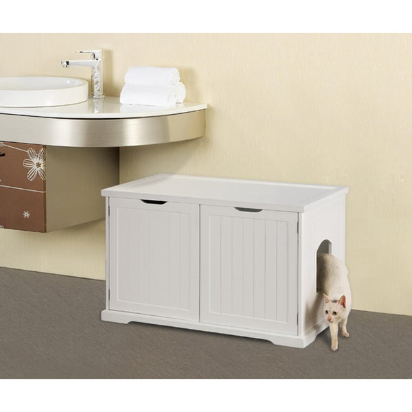 Merry Products Cat Litter Box Enclosure And Bench