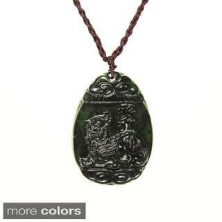 Handmade Jade Blessing Knot Necklace (China)