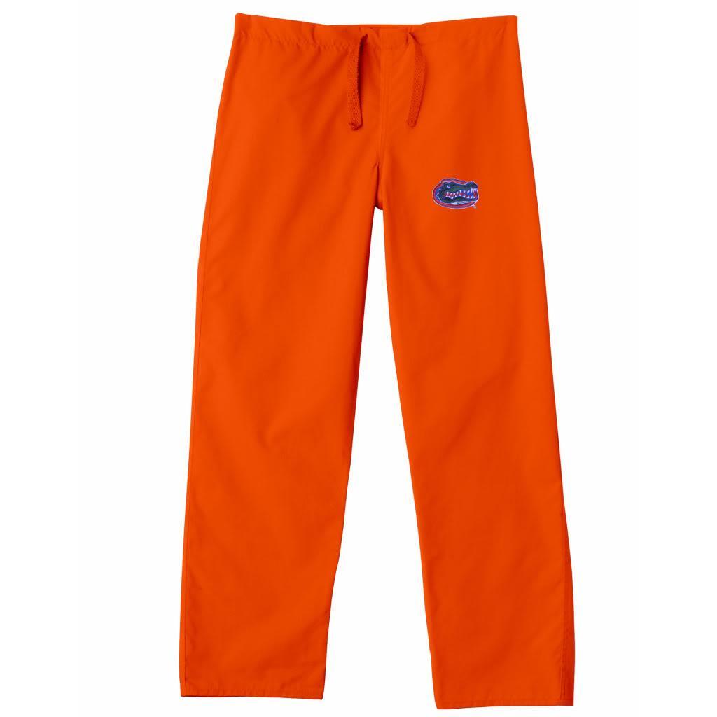 Gelscrub Unisex Orange Florida Gator Scrub Pants Free