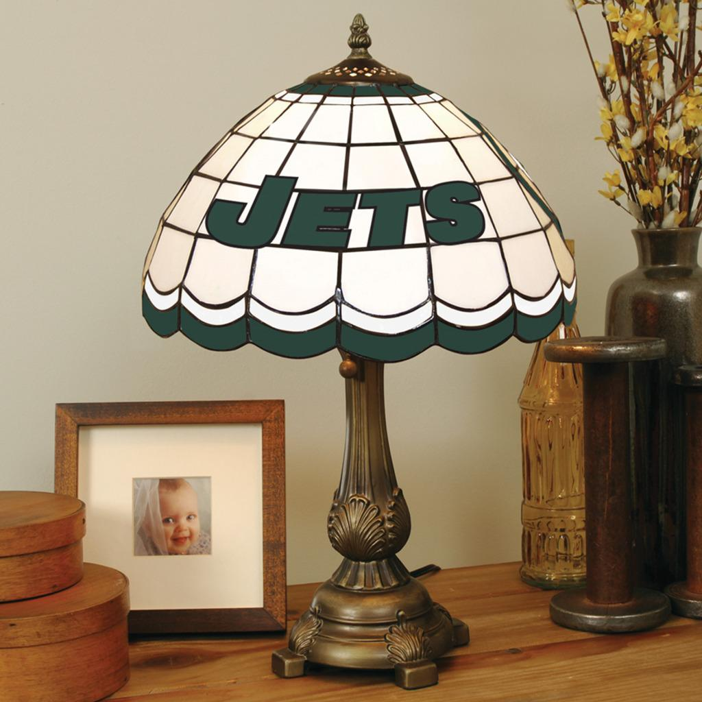 Tiffany-style New York Jets Lamp