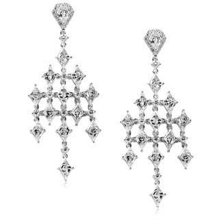 Annello by Kobelli 14k Gold 4 1/3ct TDW Diamond Chandelier Earrings
