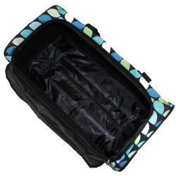 Rockland Deluxe 22-in Leaf Pattern Carry On Rolling Upright Duffel Bag