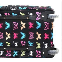 Rockland Deluxe 22-in Butterfly Carry-on Rolling Duffel Bag - Thumbnail 2