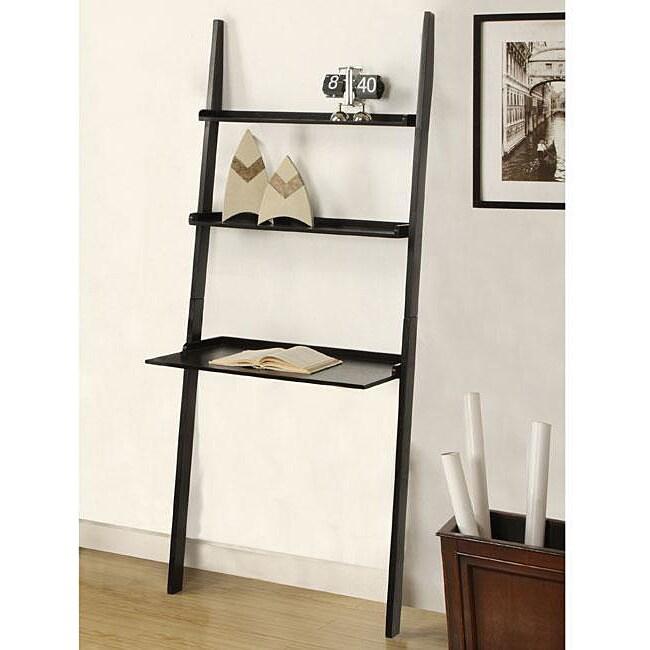 Black 3-tier Leaning Laptop Shelf