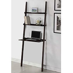 Mahogany 3 Tier Leaning Laptop Shelf Free Shipping Today