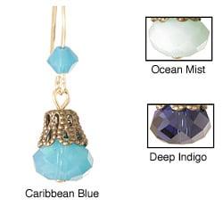 'Breathtaking Blues in Lace' 14k Gold Fill Crystal Earrings