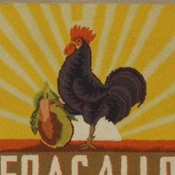 Safavieh Hand-hooked Vintage Poster Mocha Wool Runner (2'6 x 8') - Thumbnail 2