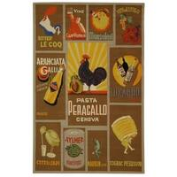 "Safavieh Hand-hooked Vintage Poster Mocha Wool Rug - 5'-3"" x 8'-3"""