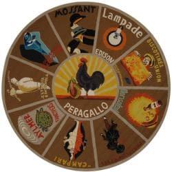 Safavieh Hand-hooked Vintage Poster Mocha Wool Rug (8' Round)
