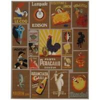 Safavieh Hand-hooked Vintage Poster Mocha Wool Rug - 8'9 X 11'9