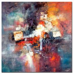 Rio 'Cube Abstract III' Square Canvas Art