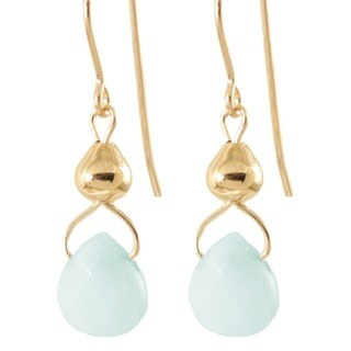 'Drops from Heavens Sky' 14k Gold Fill/ Sterling Silver Amazonite Earrings