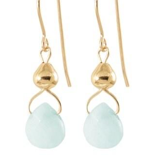 'Drops from Heavens Sky' 14k Gold Fill/ Sterling Silver Amazonite Earrings