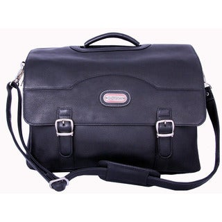Stanford Black Leather Briefcase