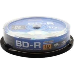 Aleratec Blu-ray Recordable Media - BD-R - 10x - 25 GB - 10 Pack Spin