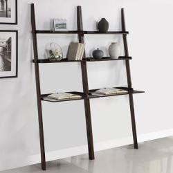 Walnut 2-piece Leaning Laptop Shelf