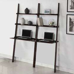 Cappuccino 2-piece Leaning Laptop Shelf