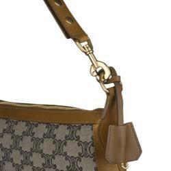 Celine Canvas Logo Shoulder Bag - Thumbnail 2