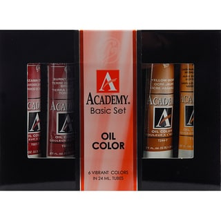 Grumbacher Academy Basic Oil Paint Set (Pack of 6)