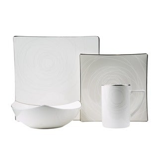 Red Vanilla Orbit 16-piece Bone China Dinnerware Set