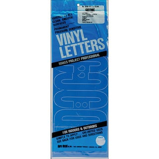 Permanent Adhesive Gothic Blue Vinyl Letters