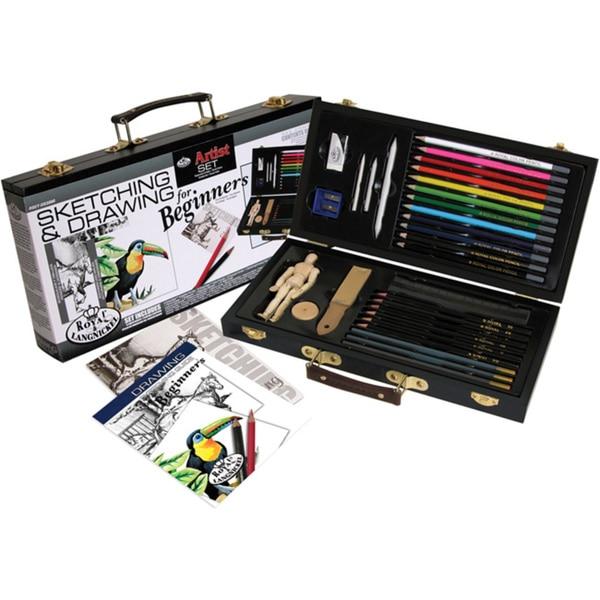 Beginner Drawing Wood Box Set