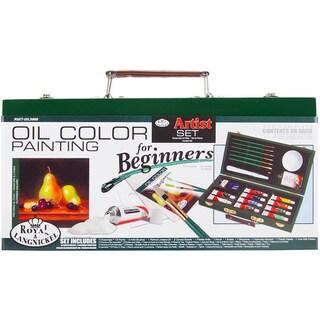 Beginner Oil Painting Wood Box Set