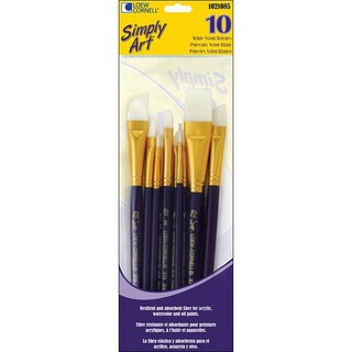 Simply Art White Nylon Brush Set (Pack of 10)