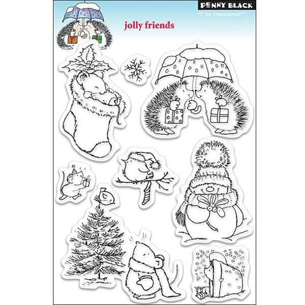 Penny Black 'Jolly Friends' Clear Stamp Sheet