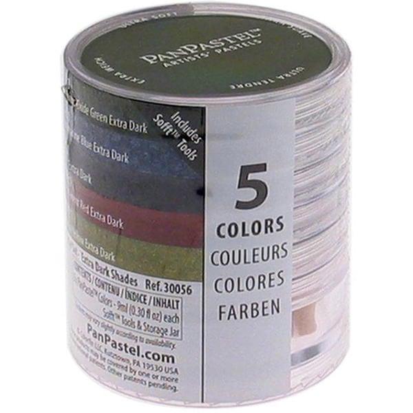 PanPastel Ultra Soft Artist Extra Dark Shades Pastel Set