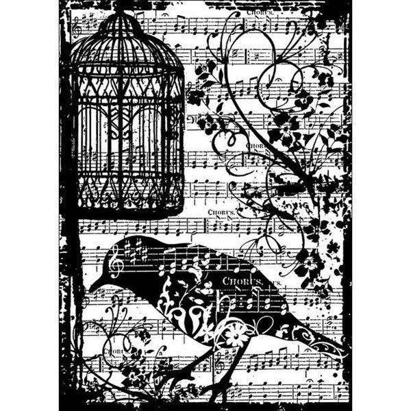 Tim Holtz 'Birdsong' Cling Rubber Stamp