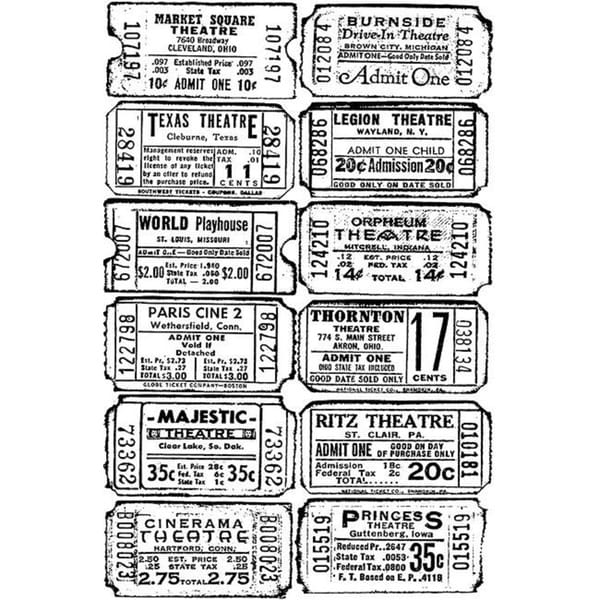 Tim Holtz 'Ticket' Cling Rubber Stamp