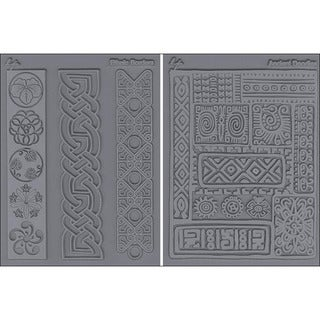 'Cultural Ancient Doodles and Ethnic Border' Stamp Set (Pack of 2)