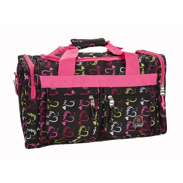 Rockland Bel-Air Hearts 19-inch Carryon Duffel Bag