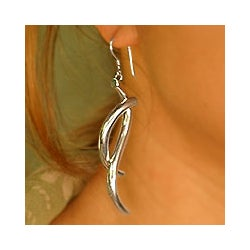Sterling Silver 'Waves' Earrings (Indonesia)
