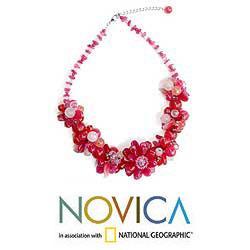 'Sweet Spirit' Rose Quartz Choker Necklace (Thailand)