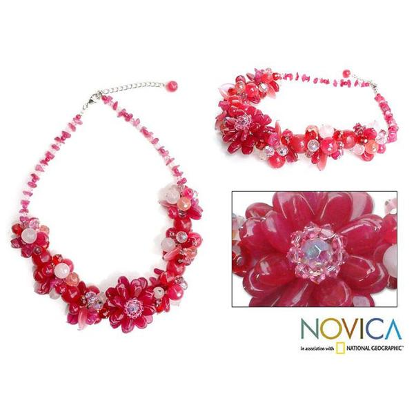 Handmade 'Sweet Spirit' Rose Quartz Choker Necklace (Thailand)