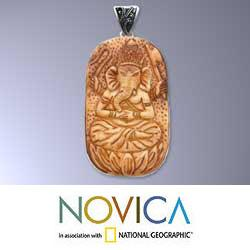 Sterling Silver 'Auspicious Ganesha' Pendant (Indonesia)